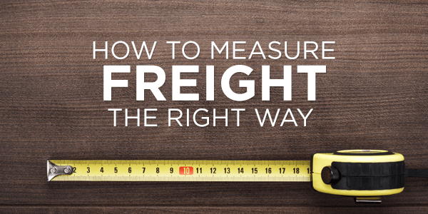How to Measure Freight