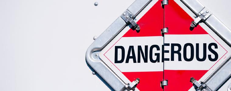 dangerous hazmat placard