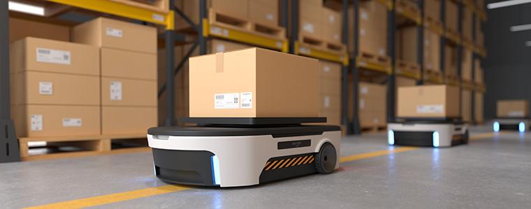 Autonomous Robot transportation in warehouses,